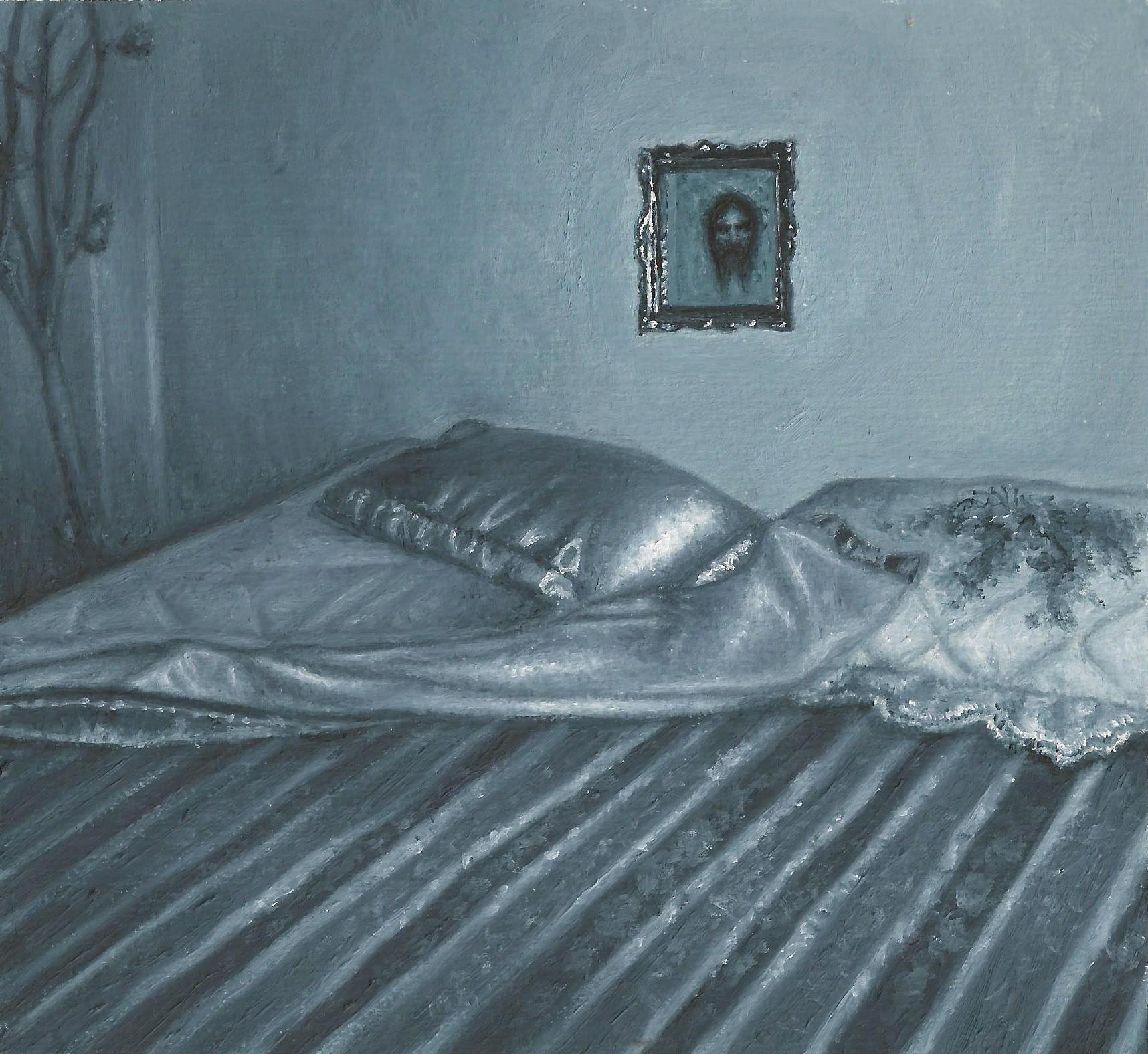 """Le travail de Juan Manuel Salas, peintre mexicain, tourne autour de la quête permanente de sens imposée par la question : """"De quoi une peinture pourrait-elle """"parler""""? Bien que tout le monde, ou n'importe qui pourrait peindre, un bouquet de fleurs, un ciel nuageux, un paysage ou encore un portrait de femme, chaque peinture transportera toujours avec elle une histoire spécifique, et à une prise de position sur ce que la peinture devrait être."""